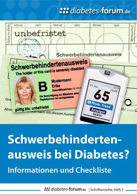 Schwerbehinderung bei diabetes